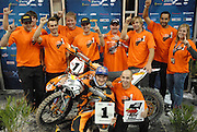 Taddy ran the number 1 plate on his bike for the main having already locked up his second Endurocross Championship. He was all smiles for the podium ceremony and pictures
