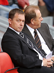 Liverpool, England - Saturday, September 1, 2007: Derby County's manager Billy Davies before the Premiership match against Liverpool at Anfield. (Photo by David Rawcliffe/Propaganda)