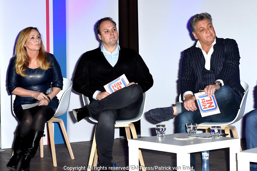 Lancering nieuw initiatief Nederlandse muziekmaat- schappijen- Hits NL, de Nederlandstalige streamingdienst in de Vorstin, Hilversum.<br /> <br /> Op de foto: Angela Groothuizen, Frans Bauer, Rene Froger