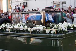 November 30, 2016 - Mexico - EUM20161130ACT09.JPG.LA HABANA, Cuba PoliticsPol√≠tica-Ficel Castro.- Aspectos del recorrido del Cortejo F√∫nebre del comandante Fidel Castro Ruz, la cual recorrer√° toda la isla de Cuba, 30 de noviembre de 2016. Foto: Agencia EL UNIVERSALJorge SerratosJMA (Credit Image: © El Universal via ZUMA Wire)
