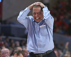 December 20, 2018 - Houston, TX, USA - Houston Cougars head coach Kelvin Sampson shows his frustration during the second half of an NCAA men's basketball game between the University of Houston and Utah State University on Thursday, Dec. 20, 2018 in Houston, TX. (Credit Image: © Scott Coleman/ZUMA Wire)