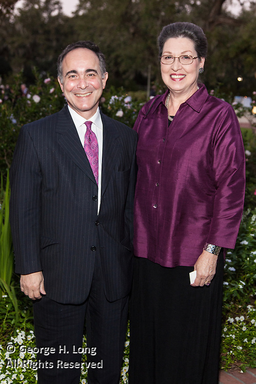 John and Priscilla Lawrence; New Orleans Botanical Garden at City Park; Magic in the Moonlight 2012