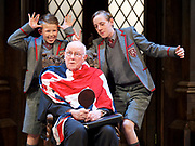 Forty Years On <br /> by Alan Bennett <br /> at Festival Theatre Chichester , Great Britain <br /> press photocall <br /> 25th April 2017 <br /> <br /> Richard Wilson as Headmaster <br /> <br /> Cameron House as pupil <br /> Alex Phillips as pupil <br /> <br /> <br /> <br /> Photograph by Elliott Franks <br /> Image licensed to Elliott Franks Photography Services