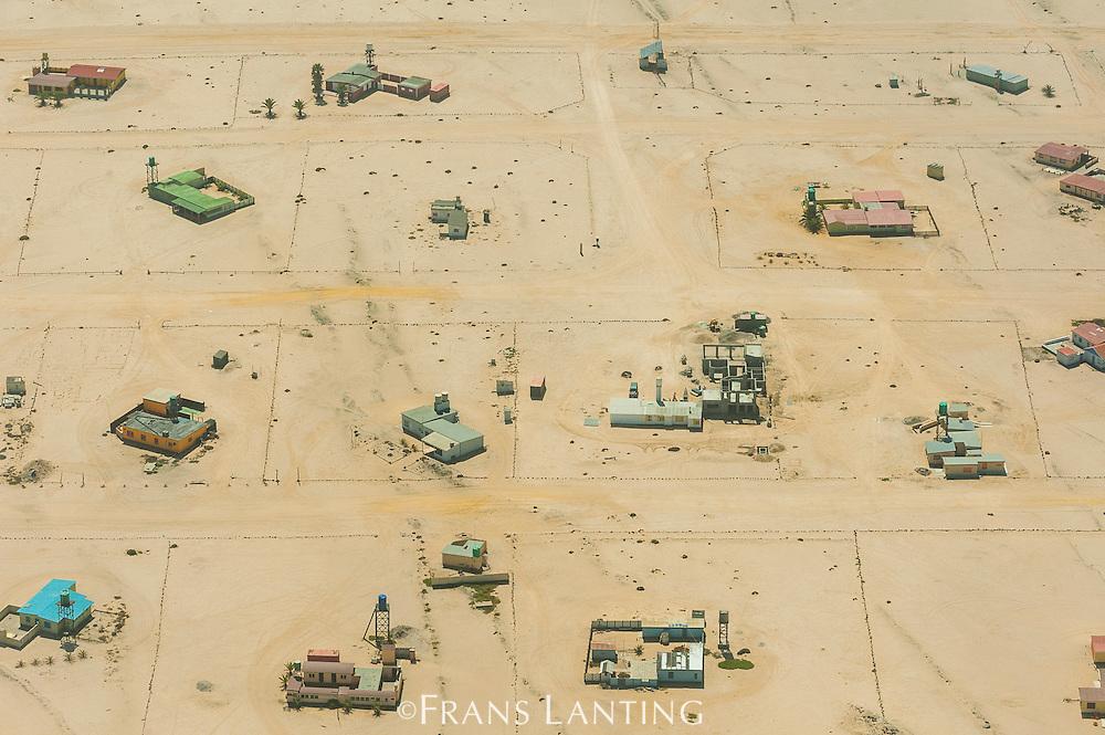 Vacation homes near Henties Bay, Skeleton Coast (aerial), Namibia