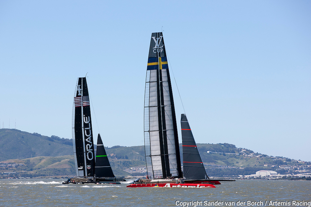 AC72 testing in San Francisco south bay. Artemis Racing April 2013, Alameda, USA
