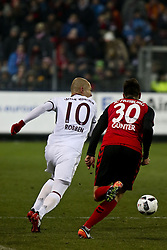 January 20, 2017 - Freiburg, Germany - Arjen Robben 10 and Gunter Christian 30 during the German first division Bundesliga football match SC Freiburg vs FC Bayern Munich in Freiburg, Germany, on January 20, 2017. (Credit Image: © Elyxandro Cegarra/NurPhoto via ZUMA Press)