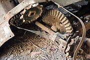 part of an old rusted agricultural tractor tool