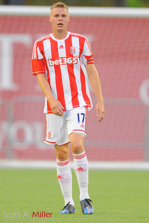 Stoke City Potters defender Ryan Shawcross (17) during the Potters game aginst the Orlando City Lions at the Florida Citrus Bowl on July 28, 2012 in Orlando, Florida. Stoke won 1-0...© 2012 Scott A. Miller.