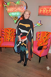 A party to celebrate the publication of renowned international fashion designer and icon Collette Dinnigan's book Obsessive Creative was held at the Ham Yard Hotel, One Ham Yard, London on 16th February 2015.<br /> Picture Shows:-FIONA McCARTHY.