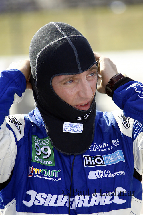 HiQ BTCC Rockingham, Jason Plato prepares for Race 1