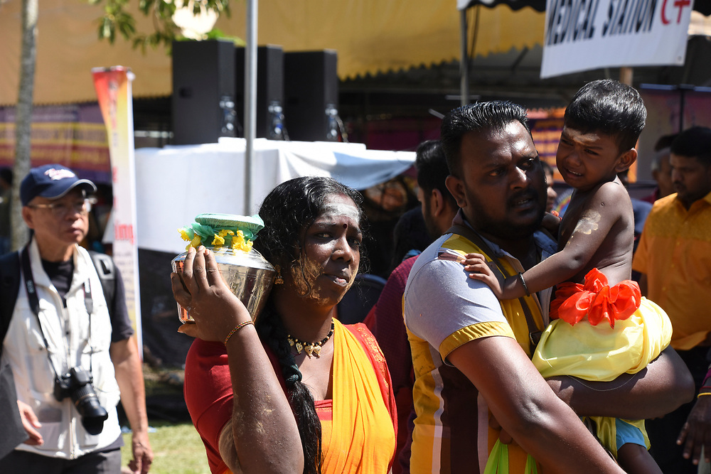 Thaipusam 2018 in Penang, Devotes day with piercings and decorations