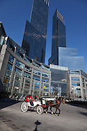 New York , Time warner twin towers in Colombus circle and 60 street  New York - United states