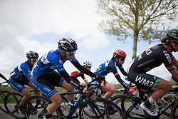 Maria Giuli Confalonieri (ITA) of Lensworld Zannata Cycling Team leans into a sharp corner during the first lap the Omloop van Borsele - a 107.1 km road race, starting and finishing in s'-Heerenhoek on April 22, 2017, in Borsele, the Netherlands.