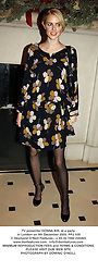 TV presenter DONNA AIR, at a party in London on 9th December 2003.PPJ 109