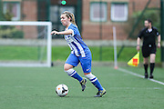 Brighton's Lucy Somes during the FA Women's Premier League match between Forest Green Rovers Ladies and Brighton Ladies at the Hartpury College, United Kingdom on 24 January 2016. Photo by Shane Healey.