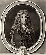 Jean Baptiste Lully, born Giovanni Battista Lulli (1632-1687) Italian-born composer who spent most of his working life in France.  From 1652 he was in the service of Louis XIV.