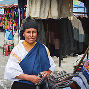 Indigenous Lady at Otavalo market.