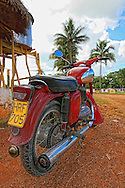 Motorcycle near San Antonio de Rio Blanco, Mayabeque, Cuba.