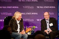 The Wall Street Journal Viewpoints Executive Breakfast Series featuring Sir Richard Branson, founder and President of Virgin Group,in conversation with Alan Murray, Deputy managing Editor and Executive Editor, Online, for the Wall Street Journal, at the Bryant Park Grill in New York on October 15, 2009.  (photo by Gabe Palacio)
