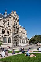 around Église Saint-Eustache Paris France in May 2008