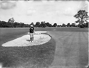 20/07/1962<br /> 07/20/1962<br /> 20 July 1962<br /> Woodbrook Irish Hospitals' Golf Tournament at Woodbrook Golf Course, Dublin. D. Patterson (Warrenpoint) blasts out of a bunker at 2nd.