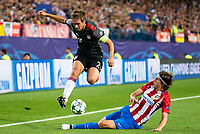 Filipe LuisAtletico de Madrid's player 7 and Bayern Munich's player Philipp Lahm during match of UEFA Champions League at Vicente Calderon Stadium in Madrid. September 28, Spain. 2016. (ALTERPHOTOS/BorjaB.Hojas)