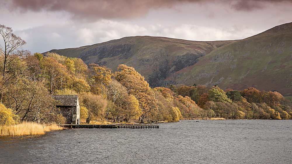 A Boathouse on Ullswater in the English Lake District