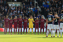 Players stand for a minutes silence in preparation for Remembrance Day - Mandatory by-line: Paul Roberts/JMP - 28/10/2017 - FOOTBALL - The Hawthorns - West Bromwich, England - West Bromwich Albion v Manchester City - Premier League