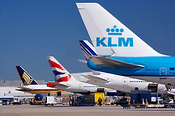 International carriers lined up to depart from Houston's Intercontinental Airport