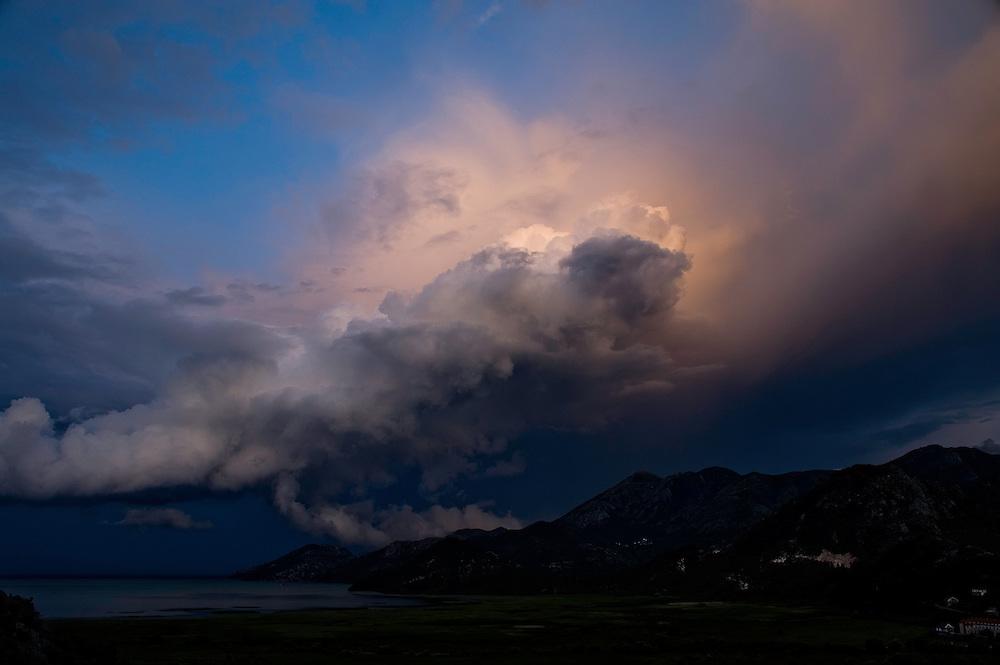 Lake Skadar landscape after storm, Lake Skadar National Park, Montenegro