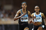 Sifan Hassan (NED) defeats Guday Tsegay to win the Brave Like Gabe women's  mile in a world record 4:12.33 during the Herculis Monaco in an IAAF Diamond League meet at Stade Louis II stadium in Fontvieille, Monaco on Friday, July 12, 2019. (Jiro Mochizukii/Image of Sport)