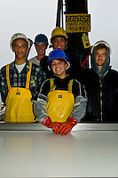 Processing chum salmon at Norquest Seafoods, Petersburg, Mitkof Island, Southeast Alaska