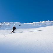 Skí touring at Botnsúlur mountains.