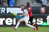 Reynald LEMAITRE / Abdoulaye DOUCOURE - 12.04.2015 - Rennes / Guingamp - 32eme journee de Ligue 1 <br /> Photo : Vincent Michel / Icon Sport