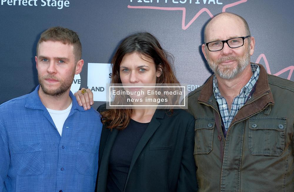 Edinburgh International Film Festival, Thursday, 21st June 2018<br /> <br /> Jury Photocall<br /> <br /> Pictured:  Iain De Caestecker, Ana Ularu and Jason Connery of the Michael Powell Jury<br /> <br /> (c) Alex Todd | Edinburgh Elite media