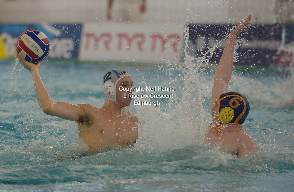 Water Polo Cup Finals Day<br /> <br /> Under 21 Malta Cup (Men)<br /> <br /> Dunfermline vs Portobello<br /> <br />  Neil Hanna Photography<br /> www.neilhannaphotography.co.uk<br /> 07702 246823