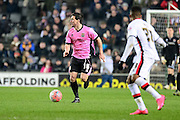 Northampton Town Defender David Buchanan during the The FA Cup Third Round Replay match between Milton Keynes Dons and Northampton Town at stadium:mk, Milton Keynes, England on 19 January 2016. Photo by Dennis Goodwin.