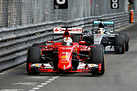 VETTEL sebastian (ger) ferrari sf15t, HAMILTON lewis (gbr) mercedes gp mgp w06 action during the 2015 Formula One World Championship, Grand Prix of Monaco from on May 24th 2015,  in Monaco. Photo Florent Gooden / DPPI