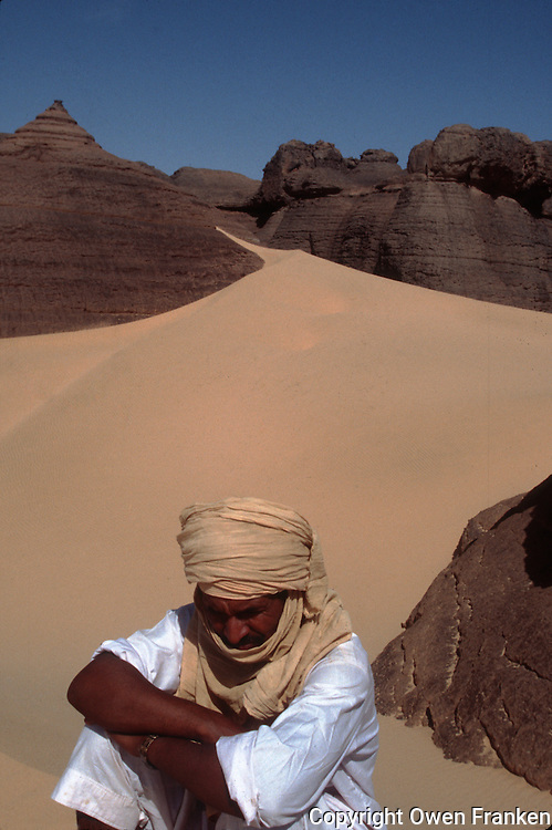 Tuaregs in the Al Hoggar area, Sahara Desert, Algeria.2002 model released..© Owen Franken..2002...