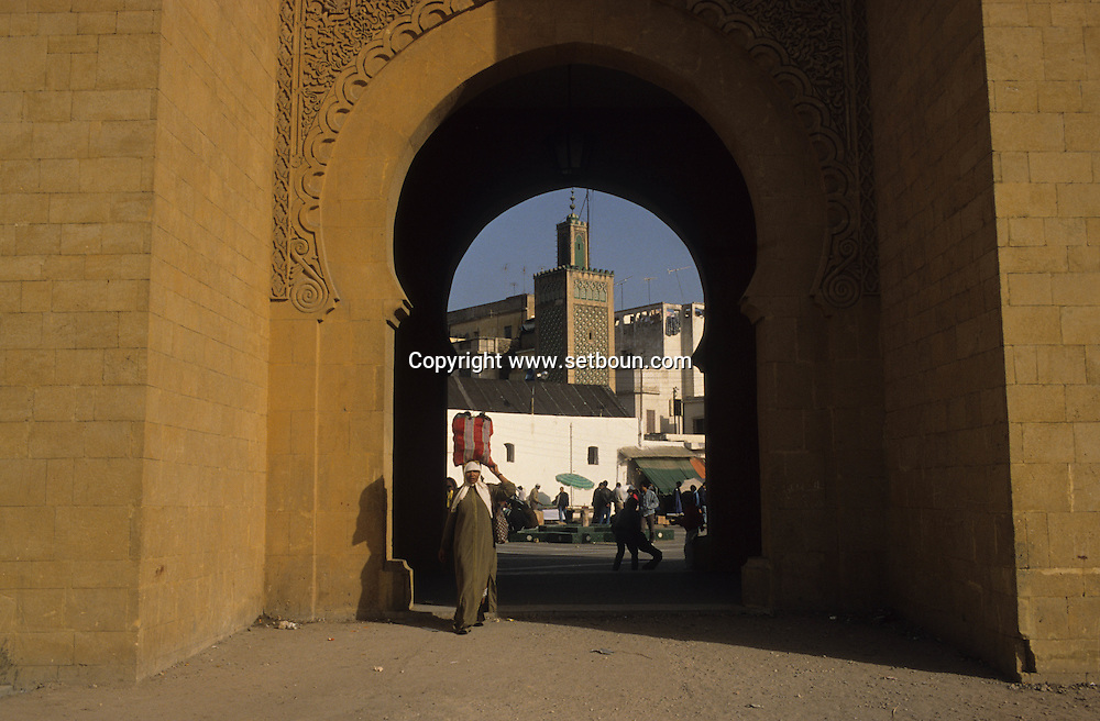 Morocco, casablanca,  the main door , the walls,  the entrance of the old medina  nations unis square