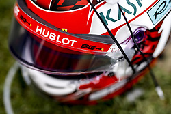 September 1, 2019, Spa-Francorchamps, Belgium: Motorsports: FIA Formula One World Championship 2019, Grand Prix of Belgium, ..Helmet of #16 Charles Leclerc (MCO, Scuderia Ferrari Mission Winnow) (Credit Image: © Hoch Zwei via ZUMA Wire)