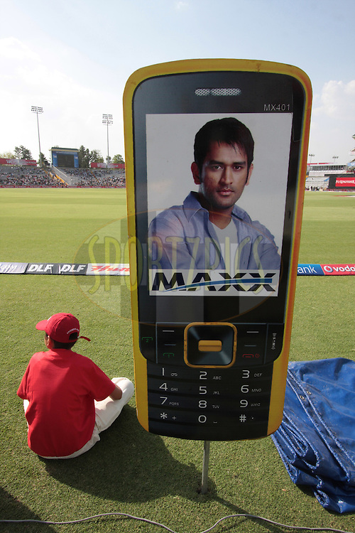 An advertisement board  during match 9 of the Indian Premier League ( IPL ) Season 4 between the Kings XI Punjab and the Chennai Super Kings held at the PCA stadium in Mohali, Chandigarh, India on the 13th April 2011..Photo by Anil Dayal/BCCI/SPORTZPICS