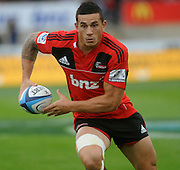Crusaders, Sonny bill Williams makes a brake, Investec Super Rugby - Highlanders v Crusaders, 19 March 2011, Carisbrook Stadium, Dunedin, New Zealand.Photo: New Zealand. Photo: Richard Hood/www.photosport.co.nz
