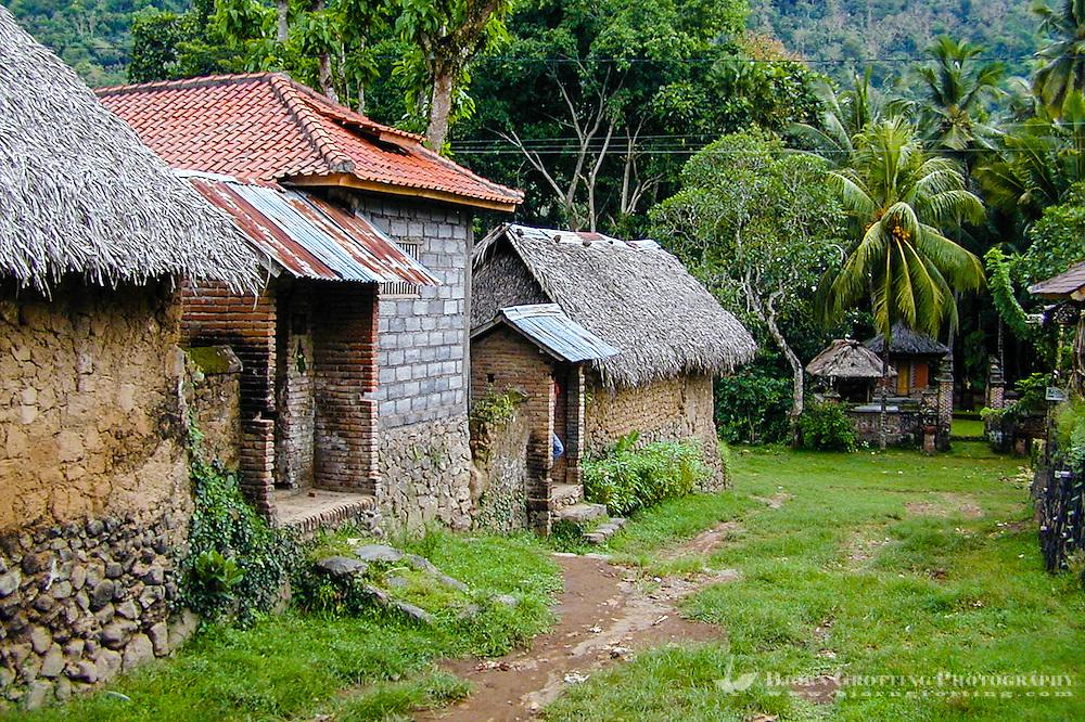 Bali, Karangasem, Tenganan.  A traditional Bali Aga village. Tenganan is located on the fertile hills stretching up to Gunung Agung.