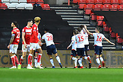 Goal - Will Buckley (11) of Bolton Wanderers celebrates scoring a goal to give a 0-1 lead to the away team during the EFL Sky Bet Championship match between Bristol City and Bolton Wanderers at Ashton Gate, Bristol, England on 12 January 2019.