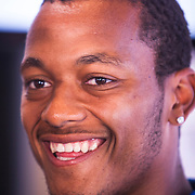UCLA football quarterback Brett Hundley was one of the stars at the Pac12 media day. Hundley was entering his senior year as a Heisman Trophy candidate.