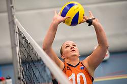 22-09-2017 NED: Training zitvolleybalsters Oranje 2017-2018, Leersum<br /> Nederland bereidt zich voor op het komende EK zitvolleybal / Fleur van Dam #10