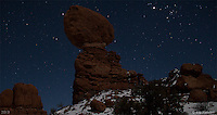MoonShadow III. Balanced Rock, Arches National Park, Utah - 12/19/12.<br />