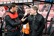 Bournemouth assistant manager Jason Tindall with Bournemouth owner Maxim Demin before the Premier League match between Bournemouth and Arsenal at the Vitality Stadium, Bournemouth, England on 14 January 2018. Photo by Graham Hunt.