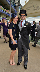 VICTORIA PENDLETON and SCOTT GARDNER at day two of the Royal Ascot 2016 Racing Festival at Ascot Racecourse, Berkshire on 15th June 2016.